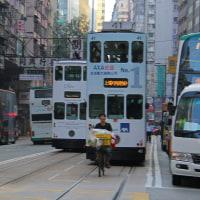 香港 2階建て路面電車乗車 5