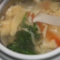 2月16日  ペッパーハムサンド&野菜と卵の あんかけスープ
