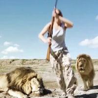 仕留めた象がそのハンターの上に倒れ、押し潰す・・・!