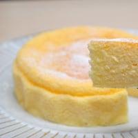 スフレチーズケーキ♪(スライスチーズ3枚)