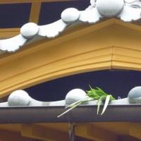 菖蒲(しょうぶ)の葉を屋根に!