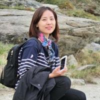 逆さMatterhorn の山池で出会った 한국 사람 の娘さん