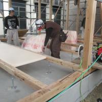 施設の増築工事。