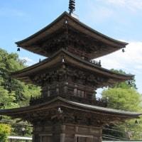 長野県小川村の高山寺三重塔(県宝)