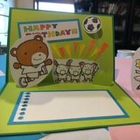 女の子用のカードの見本も作ってみた