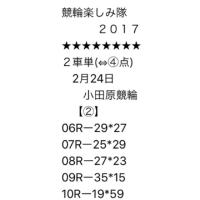 2/24 小田原競輪②、小倉競輪②
