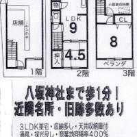 京都市東山区 八坂神社周辺 店舗付住宅売り情報