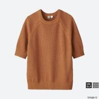 ユニクロ コットンメッシュクルーネックセーター