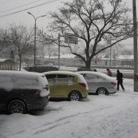想い出の雪の北京