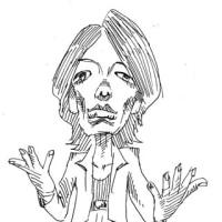 「ハッチングの練習」吉井和哉(似顔絵)