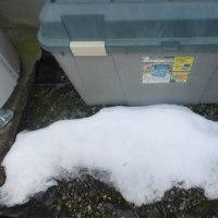 名残雪が、アチコチに見られました。。
