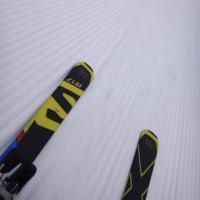 3月26日(日)の志賀高原詳細モード…ちょっと吹雪気味だったけど,雪は冷え冷えトップシーズンのコンディション!