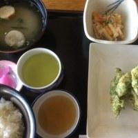 4月24日の日替り定食(550)は、鶏の青海苔天ぷら です。