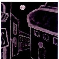 詩画・月見る月[迷い路]