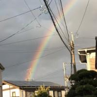 福岡に虹!!