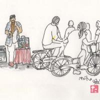 ペルー人の路上ライブ…