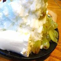 ふわふわ食感の韓国式かき氷・生マスカットホミビン