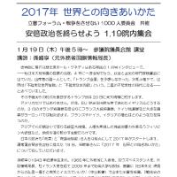 1.19「安倍政治を終らせよう」院内集会~1.19国会行動