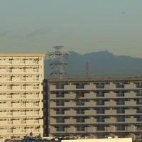 足立区から筑波山が見えた!