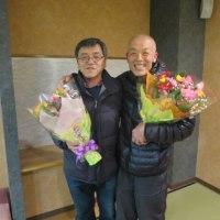 会社定年退職選手の退職慰労会(2017.3.25)