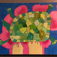 亀と足(障害者アート)