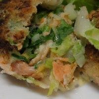 白菜と塩鮭のコロッケ