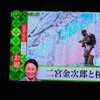 3/24 夏井先生 今週のお題 二宮金次郎と桜