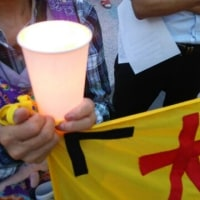 【報告】6月23日、慰霊の日 大阪駅前キャンドルアクション