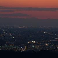 夕景の浅間山と・・・