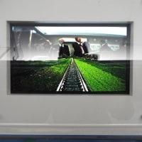 津山まなびの鉄道に「鉄道ジオラマ完成」