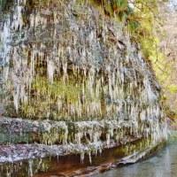梅ヶ瀬渓谷の氷柱  続き