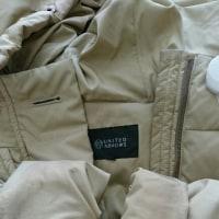 ダウンジャケットのエリ、袖口の汚れ、キレイに致します