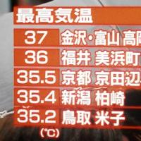 高岡 全国最高気温記録 NHKニュース    160702(土)