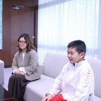 2016第11回全国ブロック選抜U-12体操競技選手権大会に出場された那須篤治さんに箕面市長表彰!