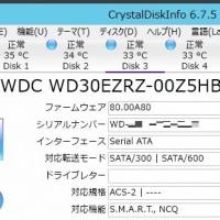 同じ WD 3TB ハードディスクの温度についての考察