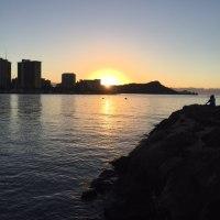 Hawaii WaikikiBeachの初日の出(元旦)