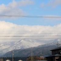 ついに来ました「近隣山〃への降雪」。