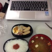 昼食 今日は授業参観 PTA総会