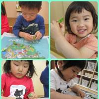 ✩ひまわり組(3歳児)✩そらまめの皮むき✩
