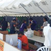 第43回神津島村民大運動会!!! 青年部の模擬店焼きそばやらなんやら