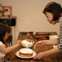 一緒にケーキ作り~~