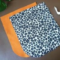ホワイト合皮×アニマル柄の夏バッグ、1つ目。もうすぐ完成