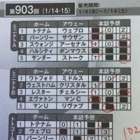 第903回minitoto-A組&totoGOAL3 「totoMEGAレボリューション」で1等&2等が的中!