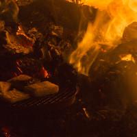 広島 にぎつ神社のとんど祭り