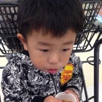 た~ぼちゃん スーパーで試食、おなかがいっぱい