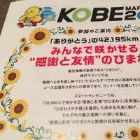 神戸マラソンの案内みて焦る