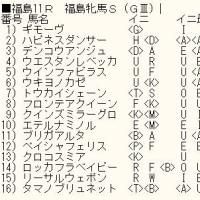 「福島牝馬S」のカバラ暗示付き出馬表