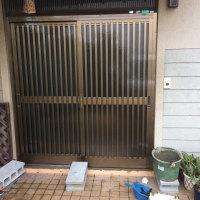 岡山市南区大福で玄関建具の交換工事