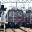 阪急 別当橋踏切(2017.7.15) 3007、3003 並び