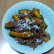 今朝の一品(7月15日)牛肉とカボチャのバター醤油炒め